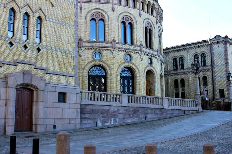 photo, image, oslo, norway, parliament building
