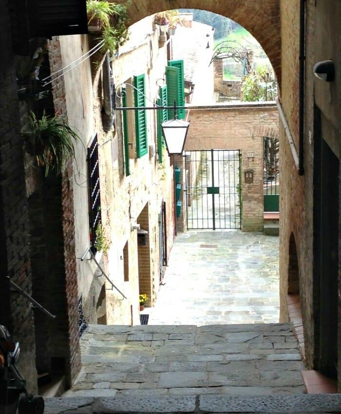 photo, image, alley, siena