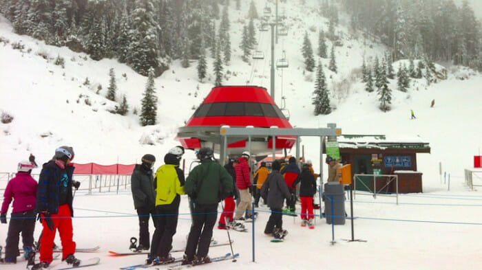 The chairlift is a great place to meet people just for the ride or a few runs.