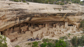 Ancient dwellings of the Native Americans at Mesa Verde National Park.