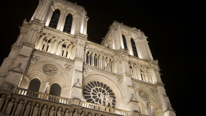 I love Notre Dame de Paris, especially at night.