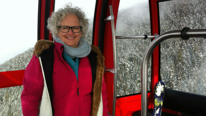 On the gondola I met a number of people. One took my photo.