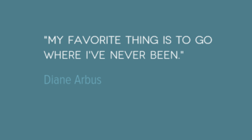 photo, image, travel quote, diane arbus
