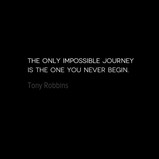 photo, image, best solo travel quotes, tony robbins, impossible journey
