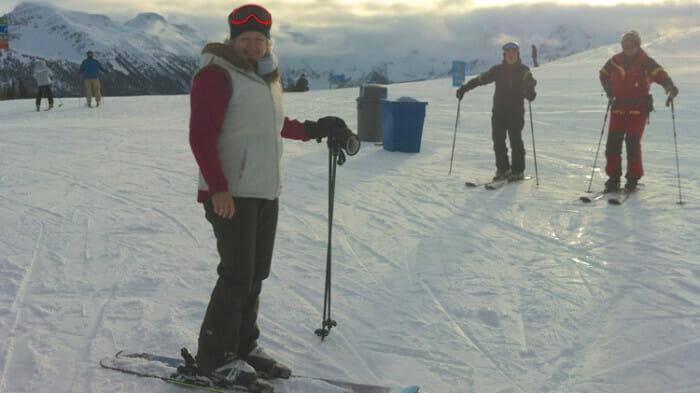 solo ski trip