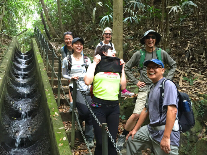 Hiking is a popular outing in Hong Kong. I spent a morning with a hiking group.