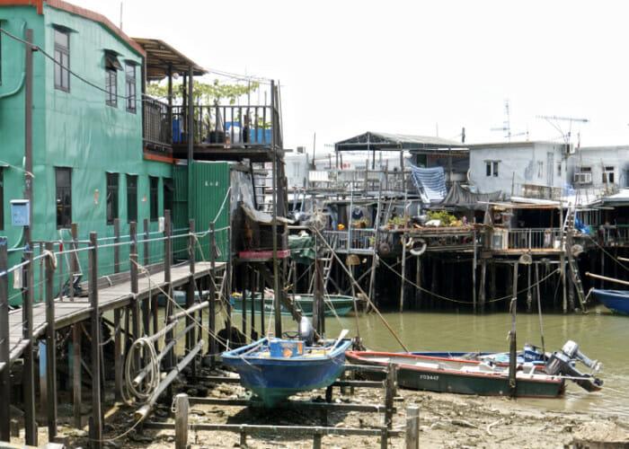 The stilt houses of Tai O, a fishing village outside of Hong Kong city.