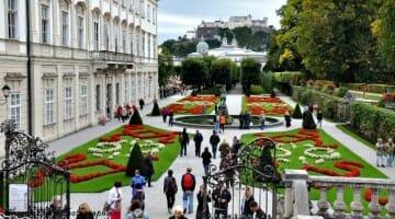 photo, image, mirabell gardens, salzburg, austria