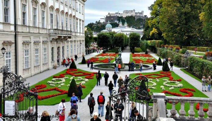 mirabell gardens, salzburg, austria, solo weekend getaway