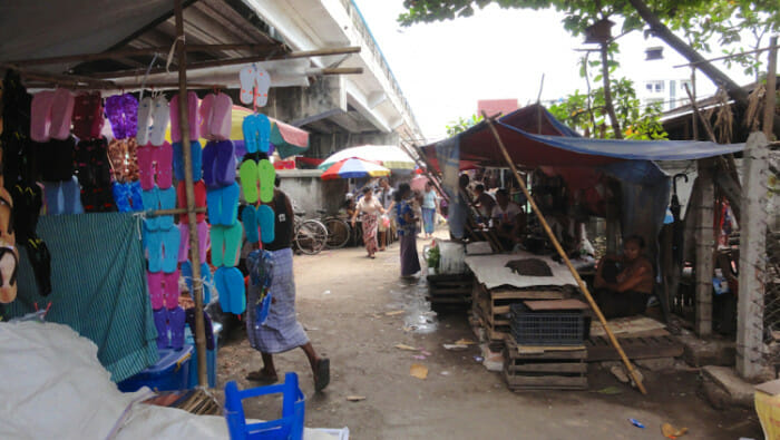 Inside the local market. I was the only westerner in sight.