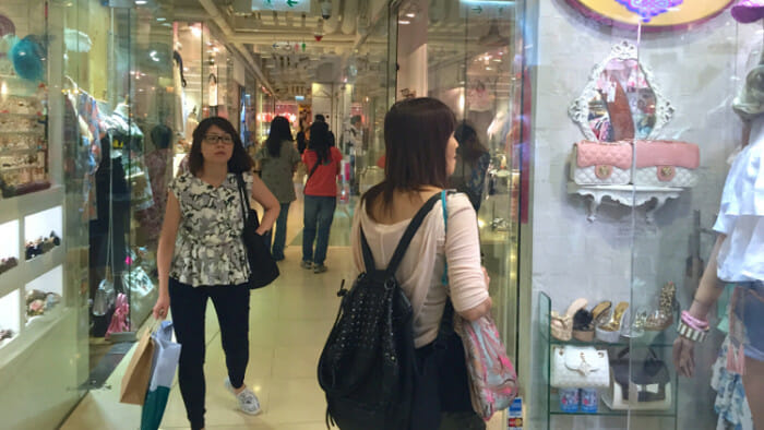 Shopping in La Foret in Causeway Bay
