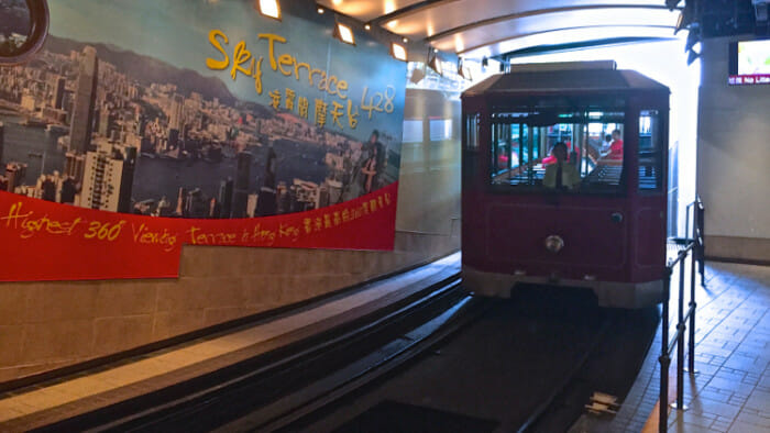 I met the group at Victoria Peak after riding The Peak Tram to the top.