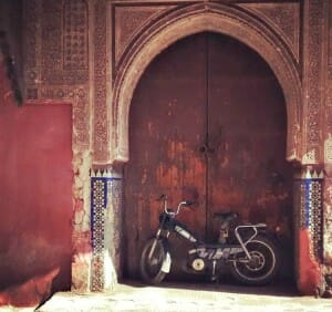 photo, image, bike, marrakech, morocco