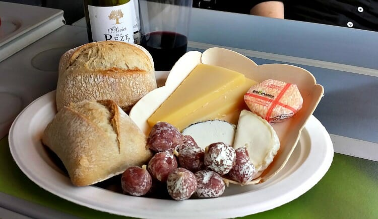 photo, image, train travel, cheese plate