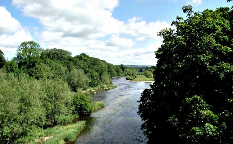 photo, image, hay-on-wye, river wye, wales