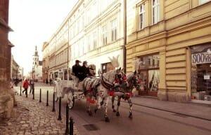 photo, iage, carriage, krakow, poland