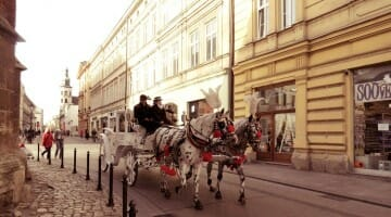 photo, iage, carriage, krakow, poland