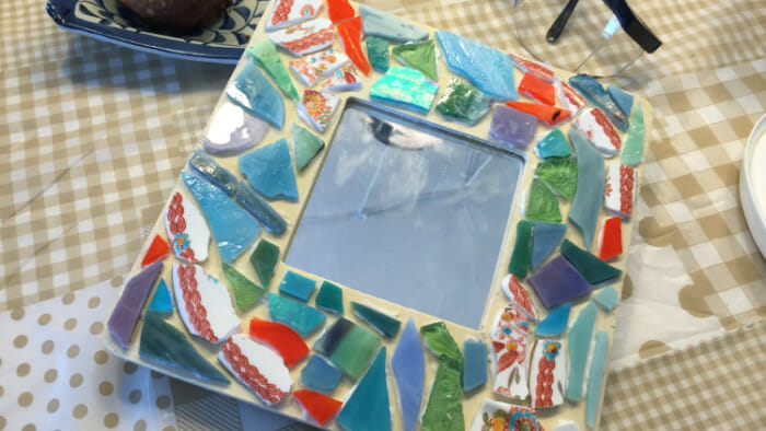 my mosaic art taught by Roslyn Cook
