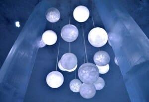 photo, image, chandelier, ice church, sweden