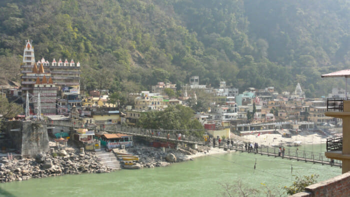 Walking Bridge over Ganges Rishikesh