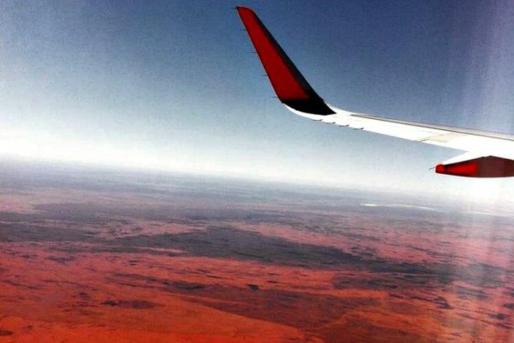 photo, image, uluru, plane, australia