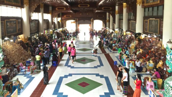Entrance to Kyaik Pun pagoda