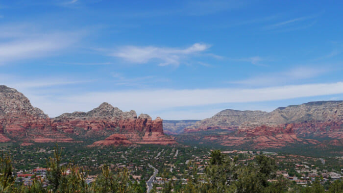 The view of Sedona from Airport Road.