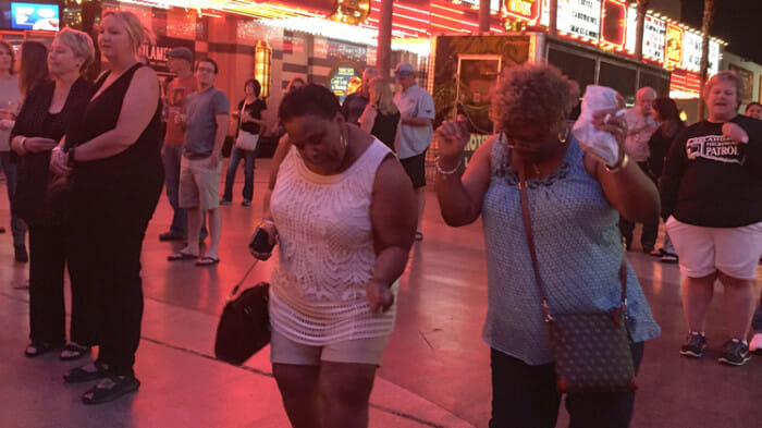I didn't see anyone having this much fun on the Strip.