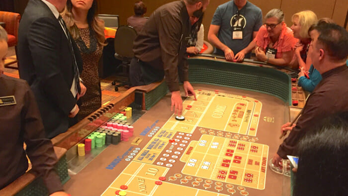 Learning to play craps.