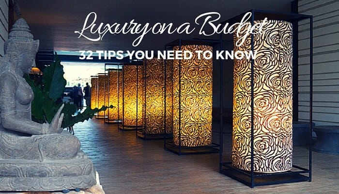 planning luxury travel on a budget