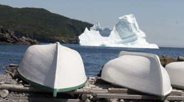 Iceberg watching is a common pursuit for those going to Newfoundland.