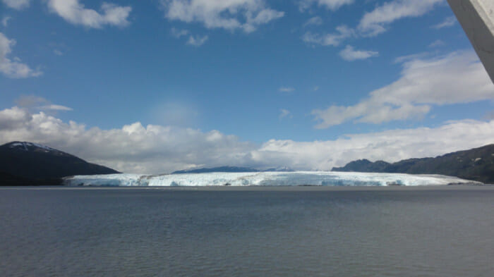 Cruising the fjords of Chile on the Navimag ferry.