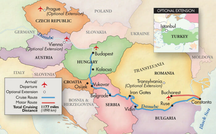 Eastern Europe to the Black Sea - river cruise along the Danube.