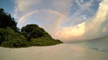 photo, image, rainbow, ukulhas, maldives