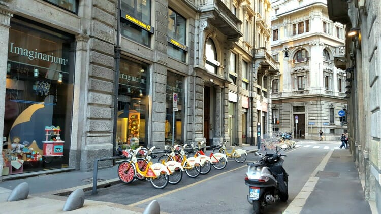 photo, image, bikes, milan, lombardy