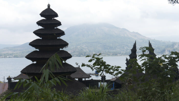 This is the Temple in Trunyan on Lake Batur in the Kintamani Volcano area.