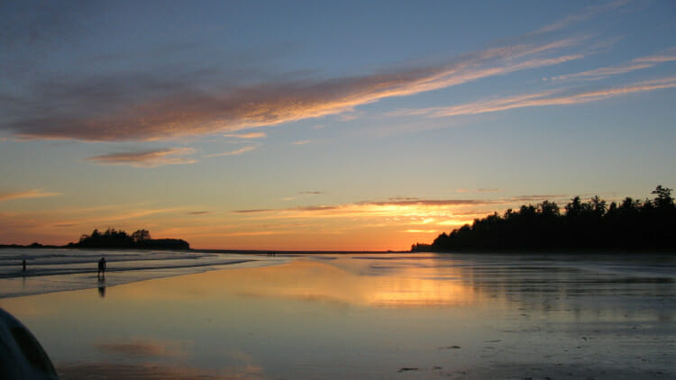Sunset in Tofino, Vancouver Island, BC