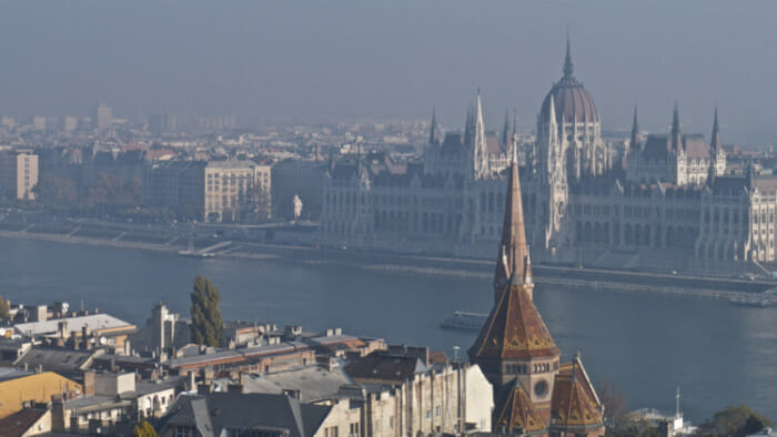 A view of the Hungarian Parliament