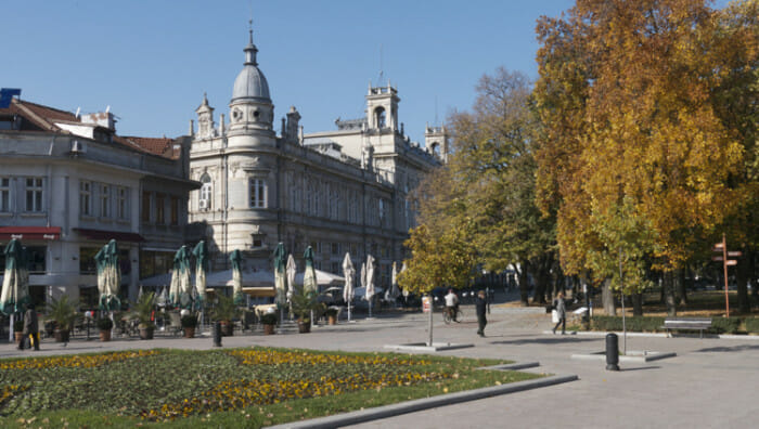 The theater in Ruse was designed by architects from Vienna.