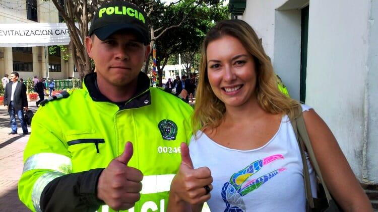 photo, image, police, bogota, colombia