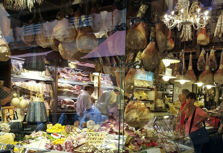 photo, image, butcher shop, one hour tour of bologna