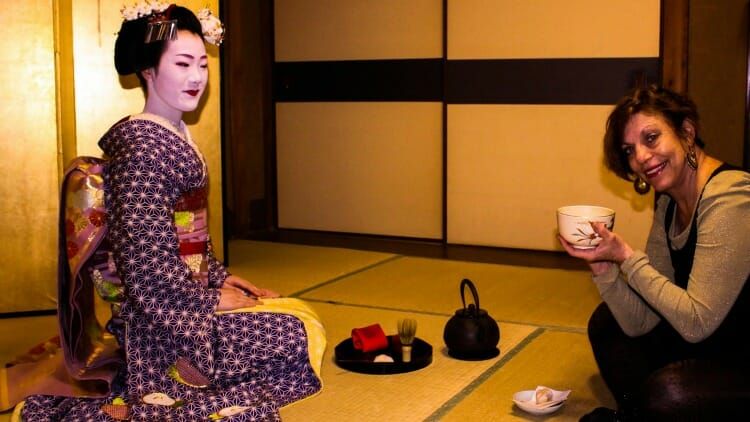 photo, image, geisha, tea, kyoto, japan