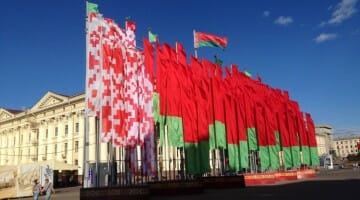 photo, image, flags, minsk, belarus