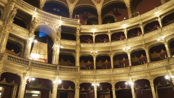 The Hungarian State Opera House. It was worth the small price for the tour. I just wish I had the time to attend a performance at night.