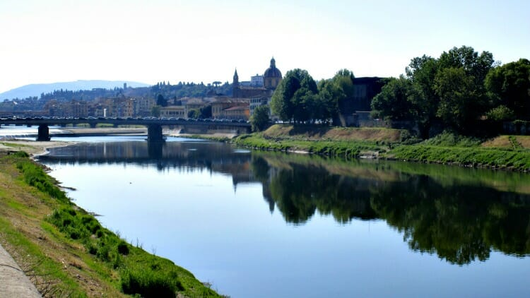 photo, image, river, florence, italy