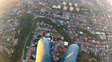 photo, image, gliding over skopje, macedonia