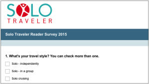 Have Your Say! Take the 2016 Solo Traveler Reader Survey