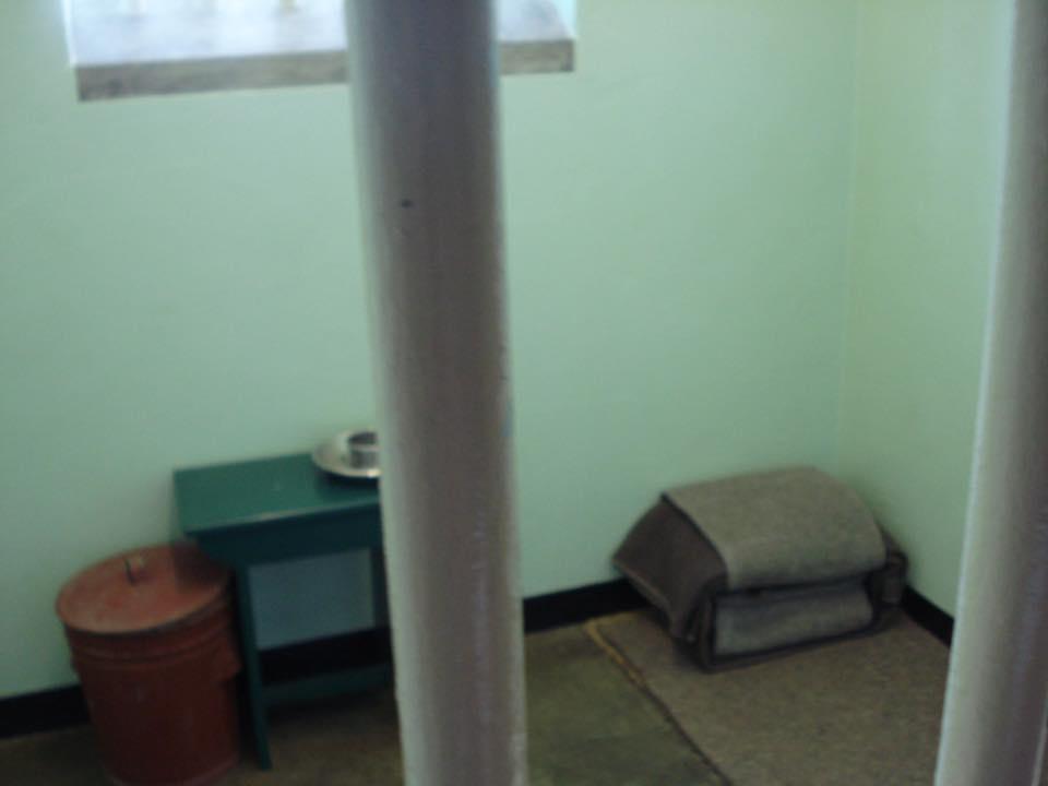 Mandela's cell.