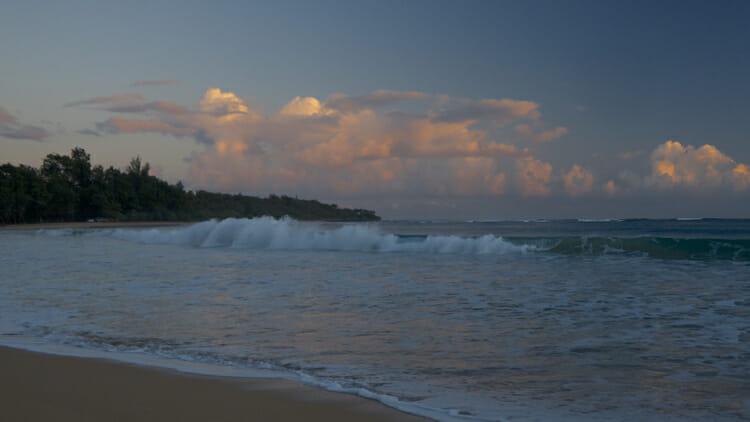 Sunrise on the beach at Kumu Camp.
