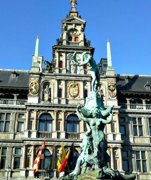photo, image, grote markt, antwerp, belgium